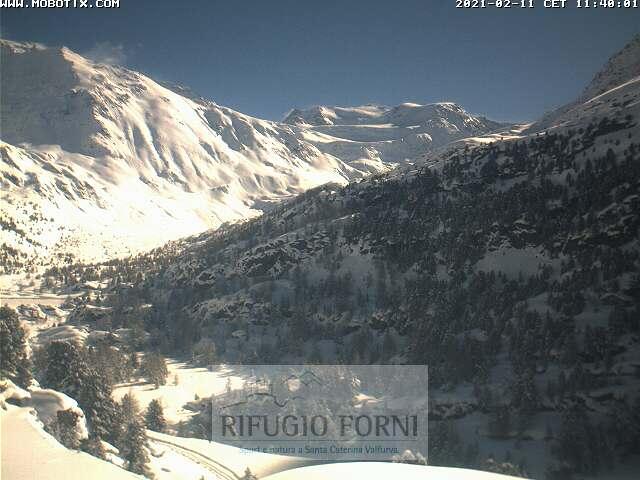 webcam ghiacciaio dei Forni
